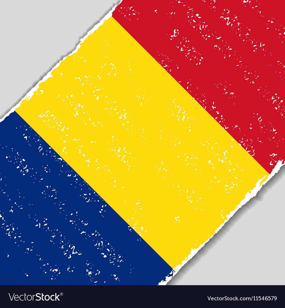 Romanian grunge flag