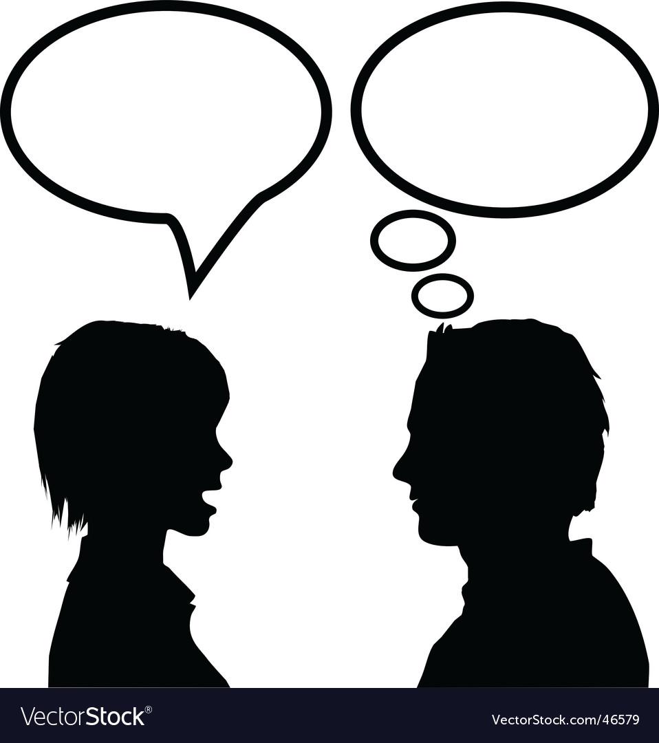 Speech communication vector image