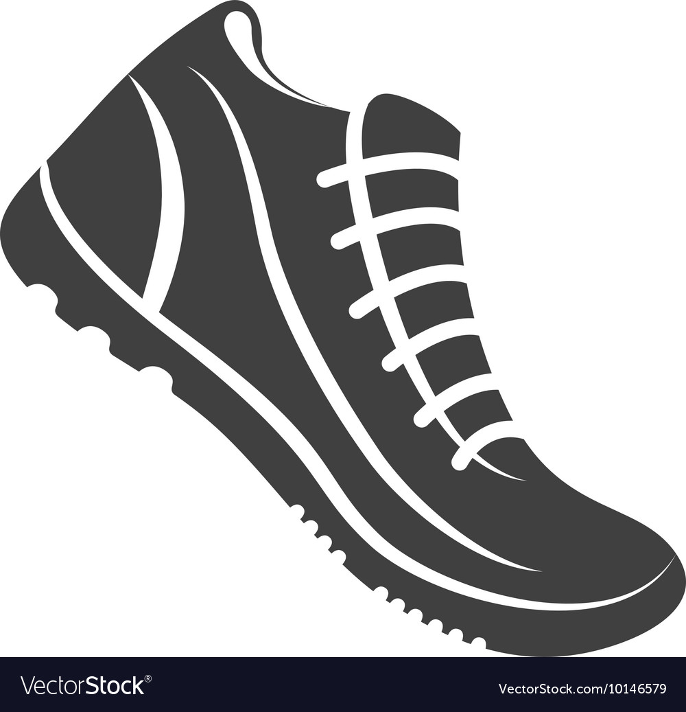 Sport shoes running fitness icon graphic