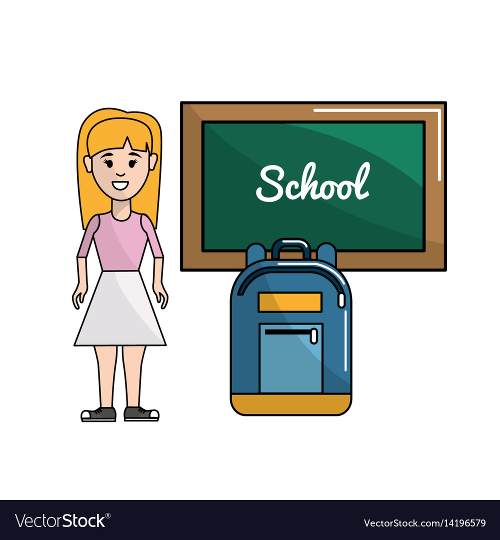 Student With Board And Backpack Tool Royalty Free Vector