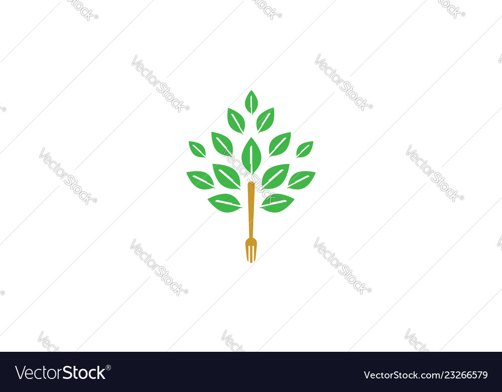 Tree fork icon logo