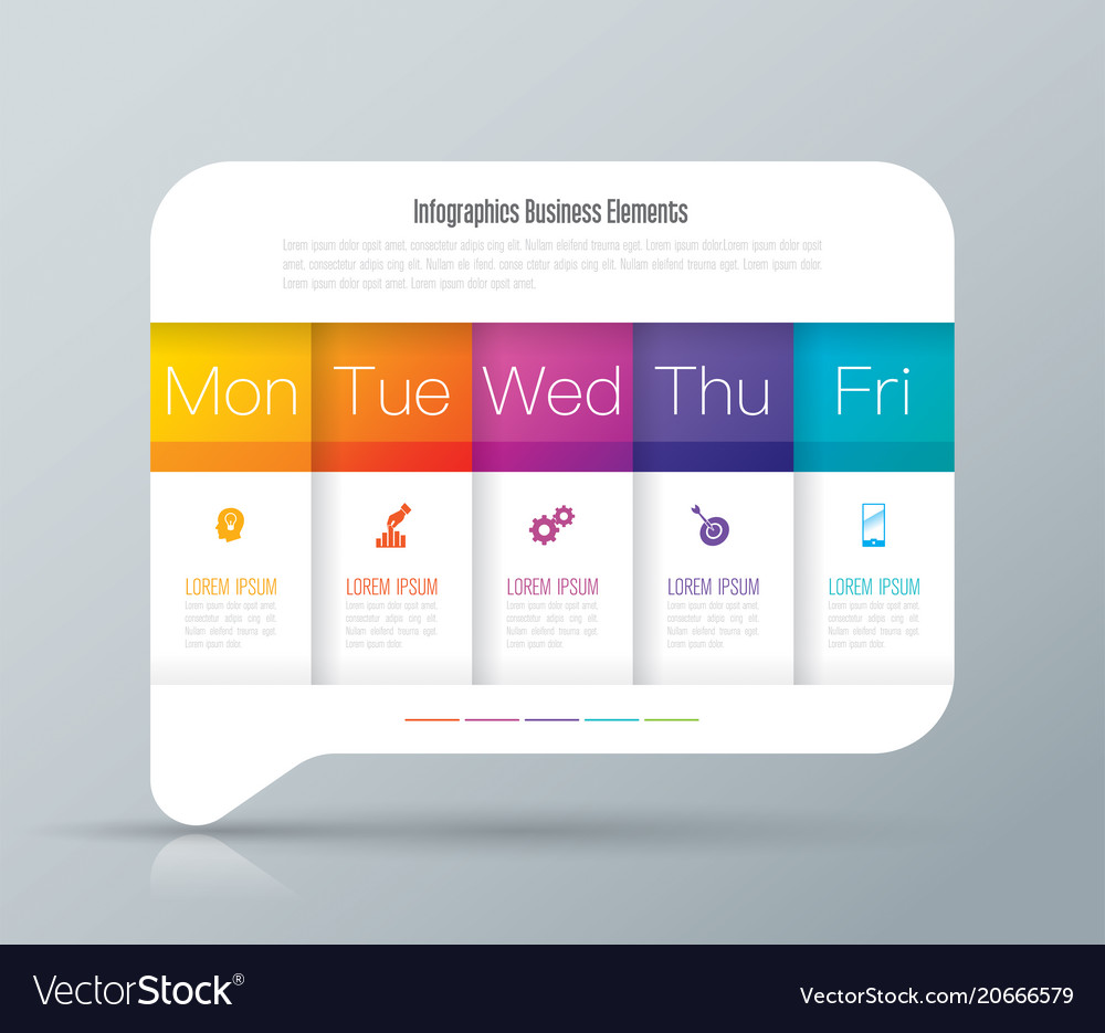 Weekly planner monday - friday infographics design