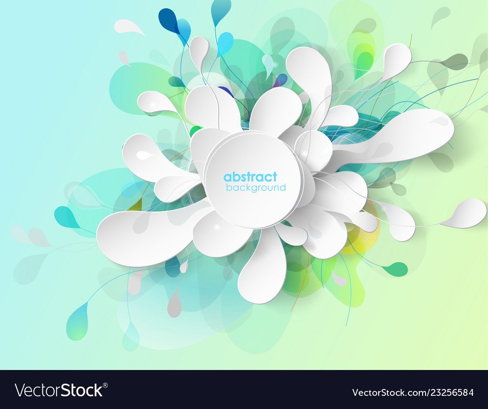 Abstract colored flower background with circles