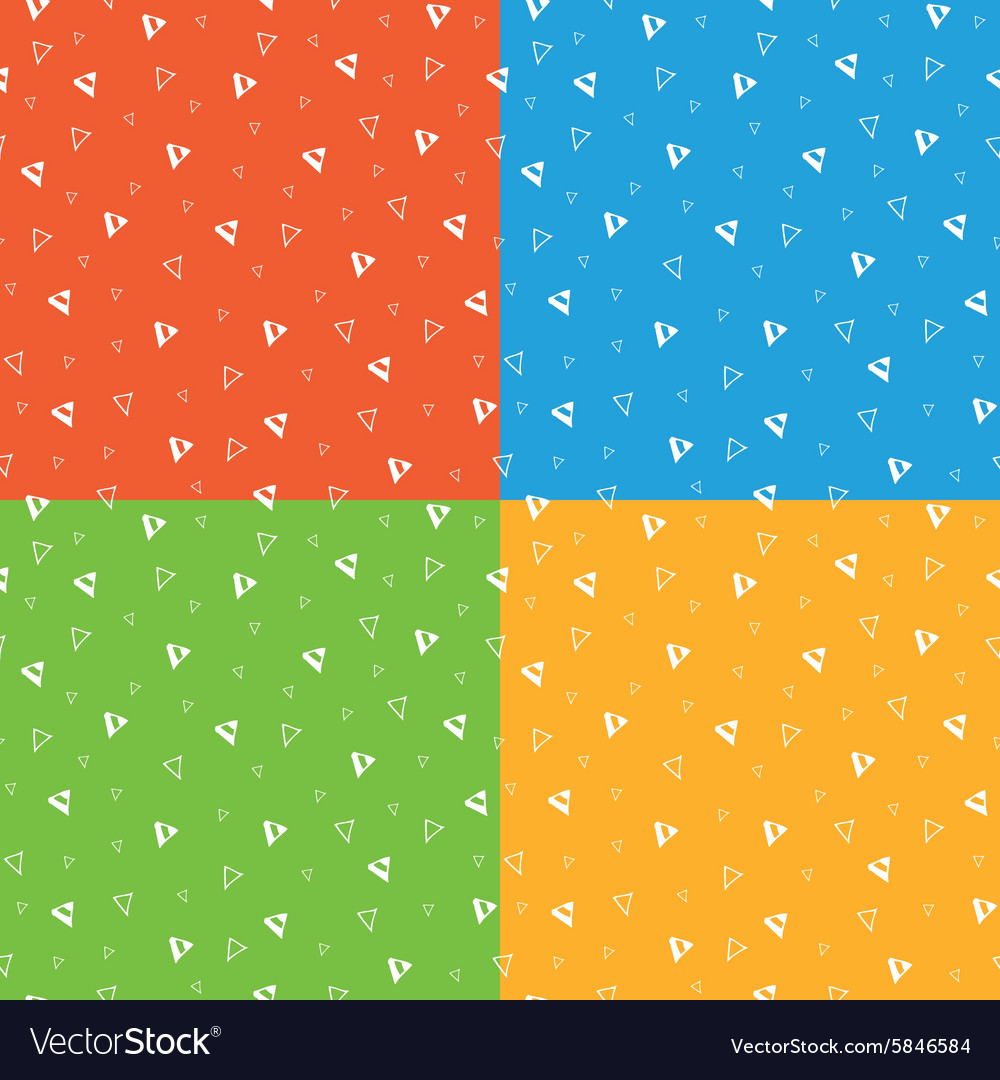 Festive bright triangle geometric seamless pattern vector image