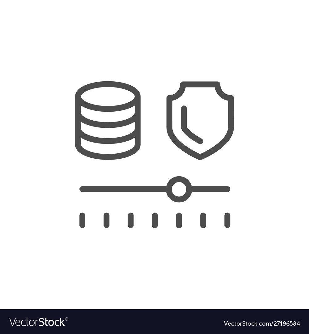 Financial risk management line icon