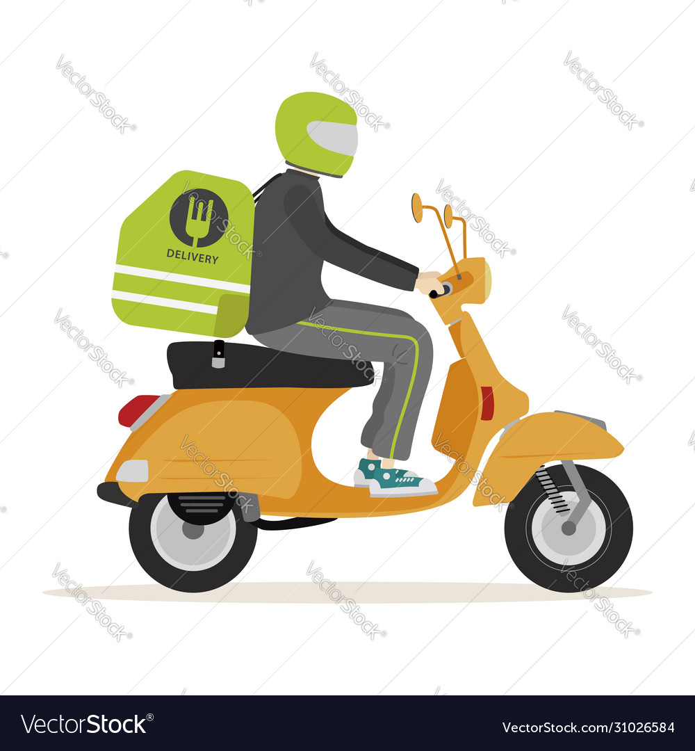 Motorcycle food deliver