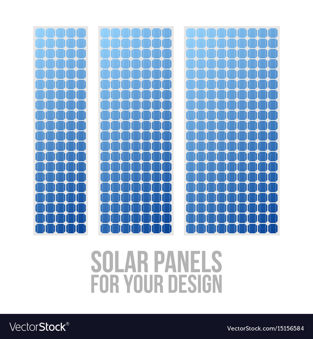 Photovoltaic electric solar panel patterns set vector image