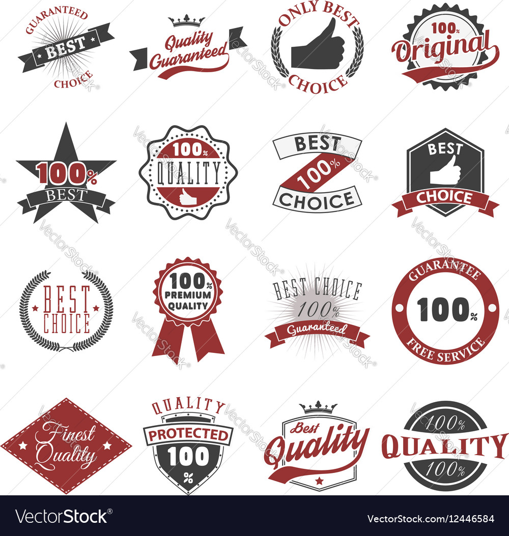 Quality guarantee emblems and labels