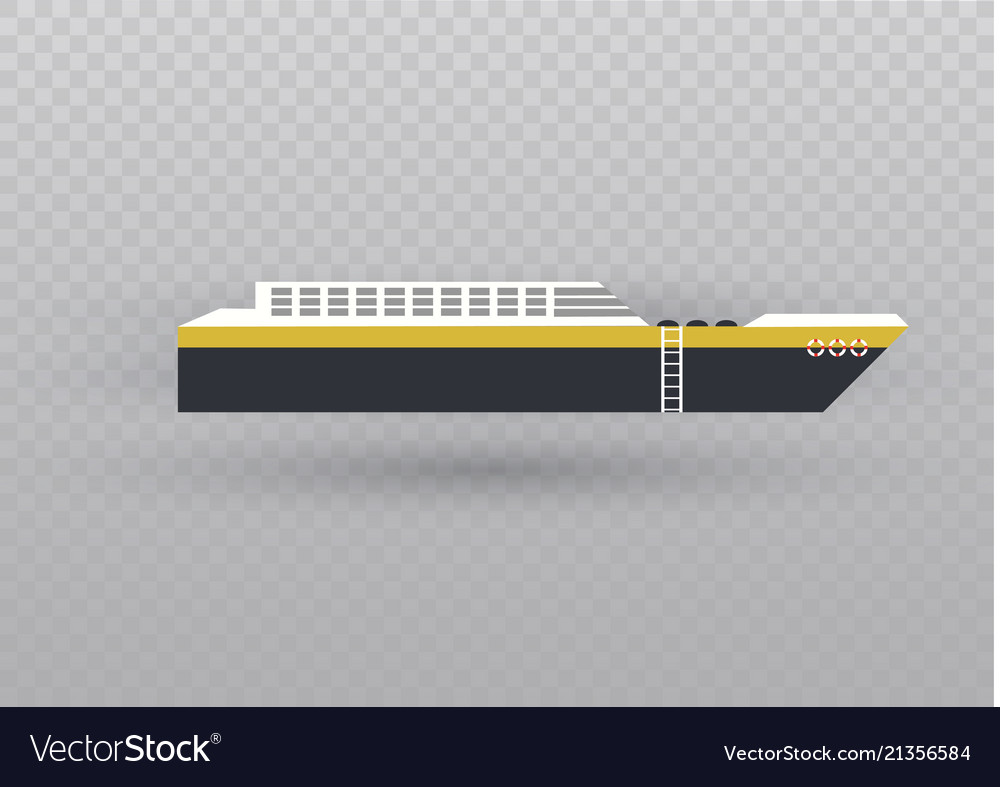 Sea or ocean cruise concept in flat style