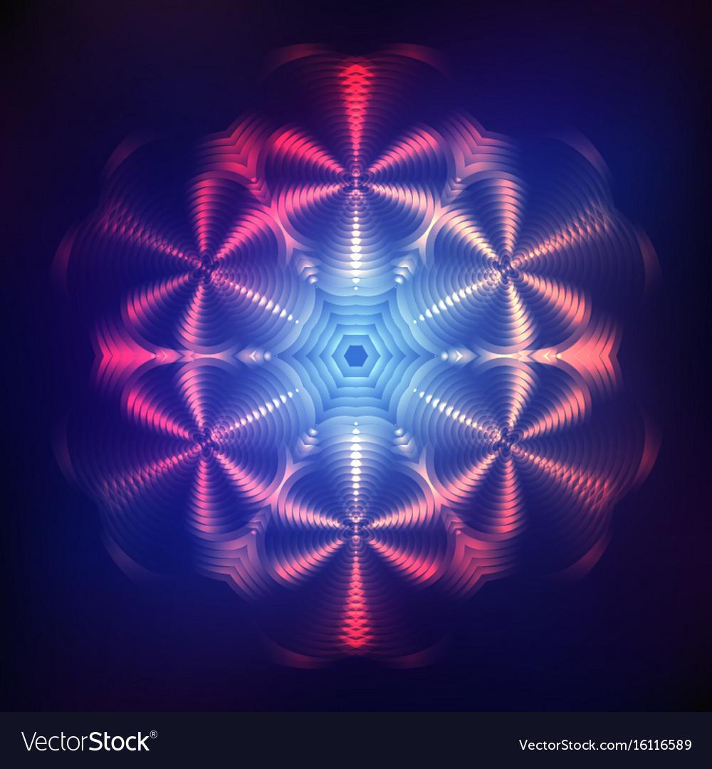 Abstract shining cosmic star