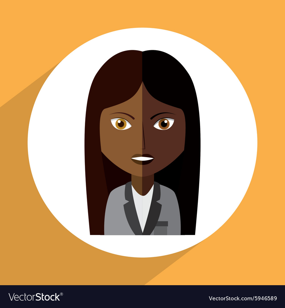 Avatar female vector image