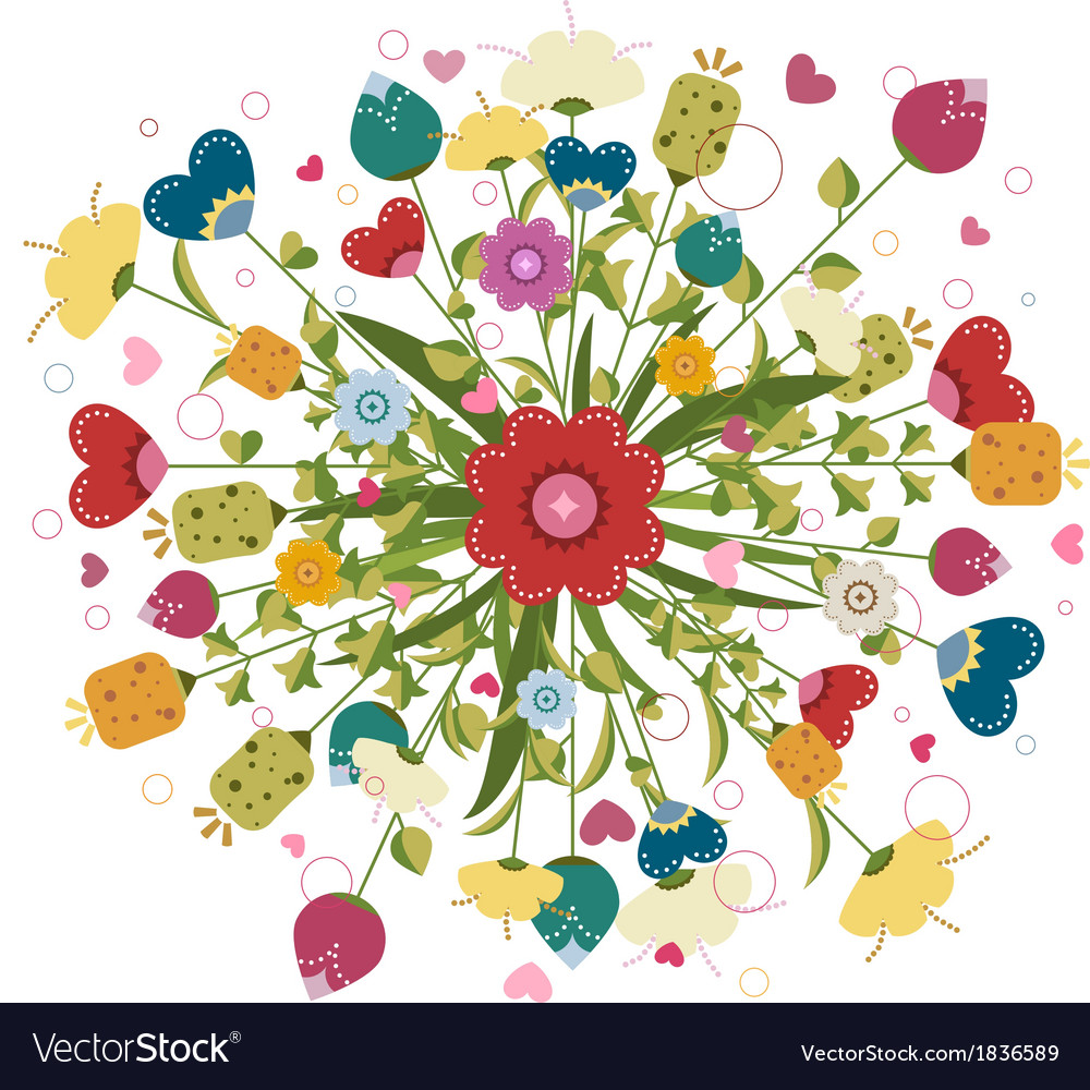 Colorful bouquet made of flowers royalty free vector image colorful bouquet made of flowers vector image izmirmasajfo