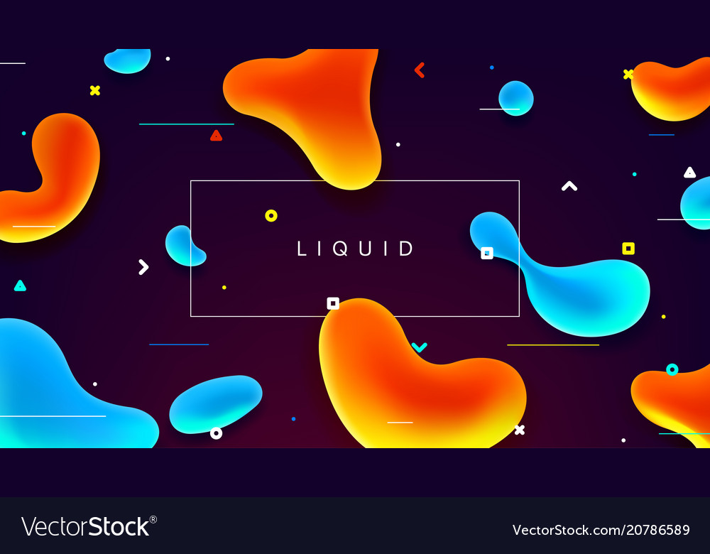 Colorful web banner with abstract fluid shapes