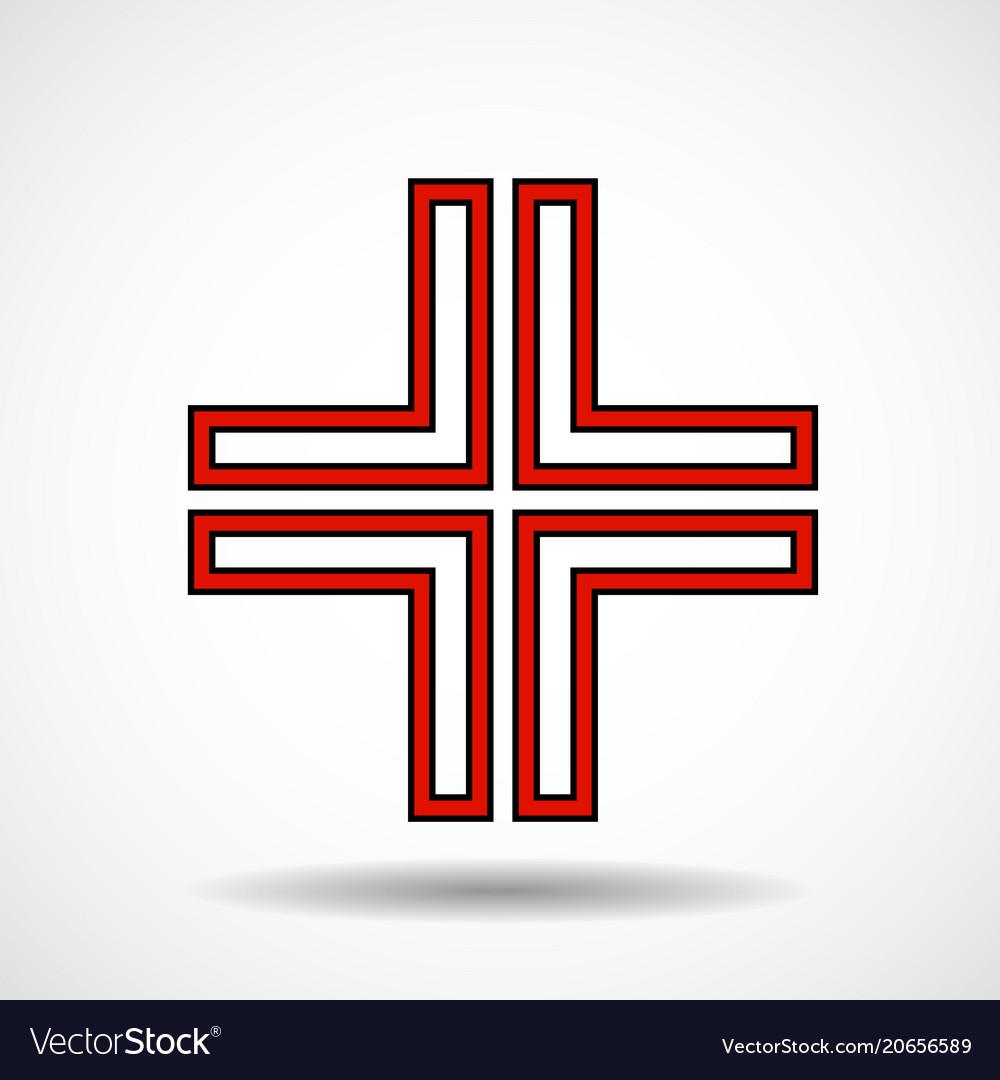 Cross christian symbol sign of lines