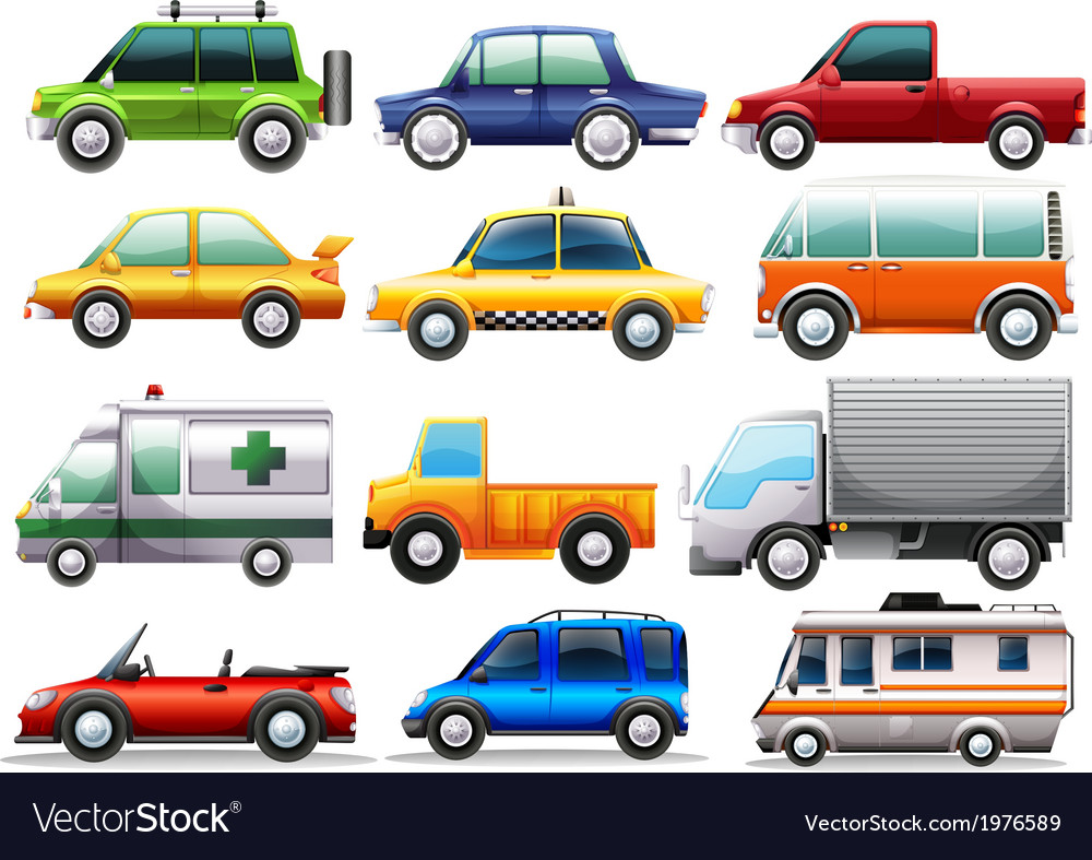 Different Types Of Vehicles >> Different Types Of Cars Royalty Free Vector Image