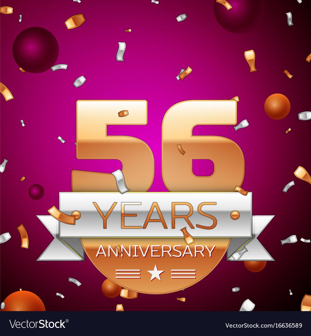 Fifty six years anniversary celebration design