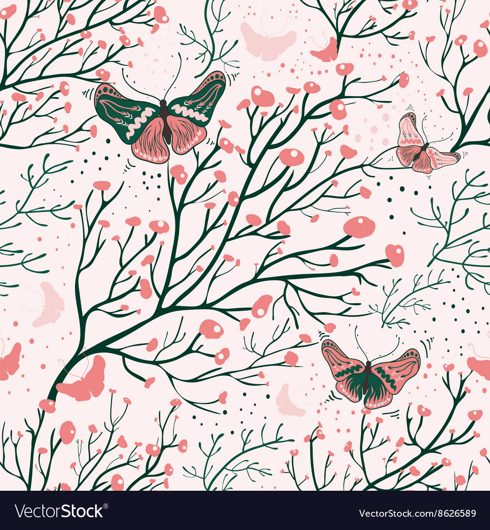 Floral seamless pattern with colorful