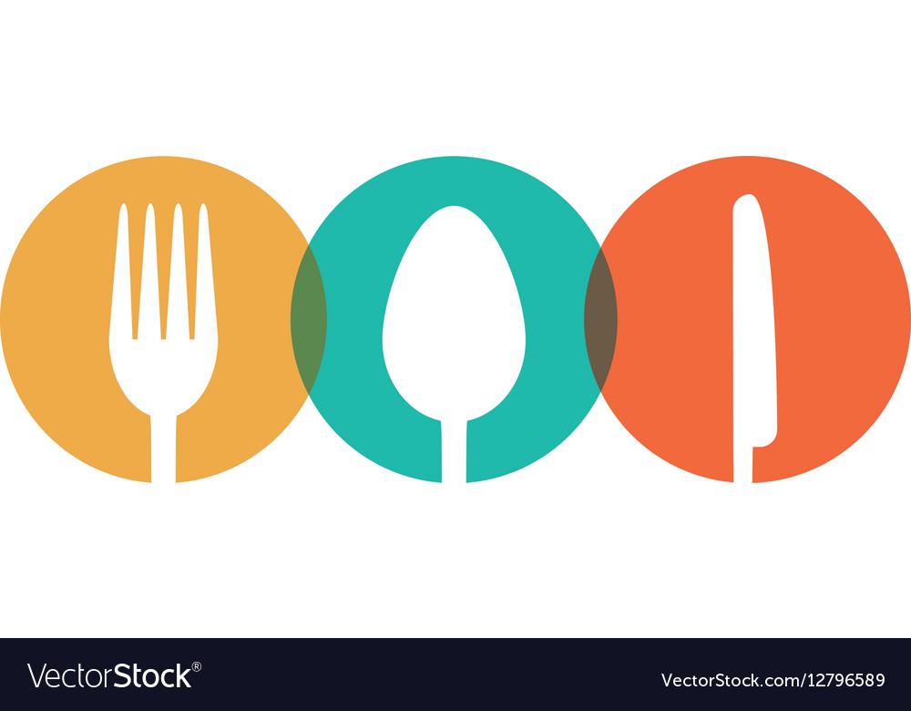 Fork spoon knife utensil kitchen badge