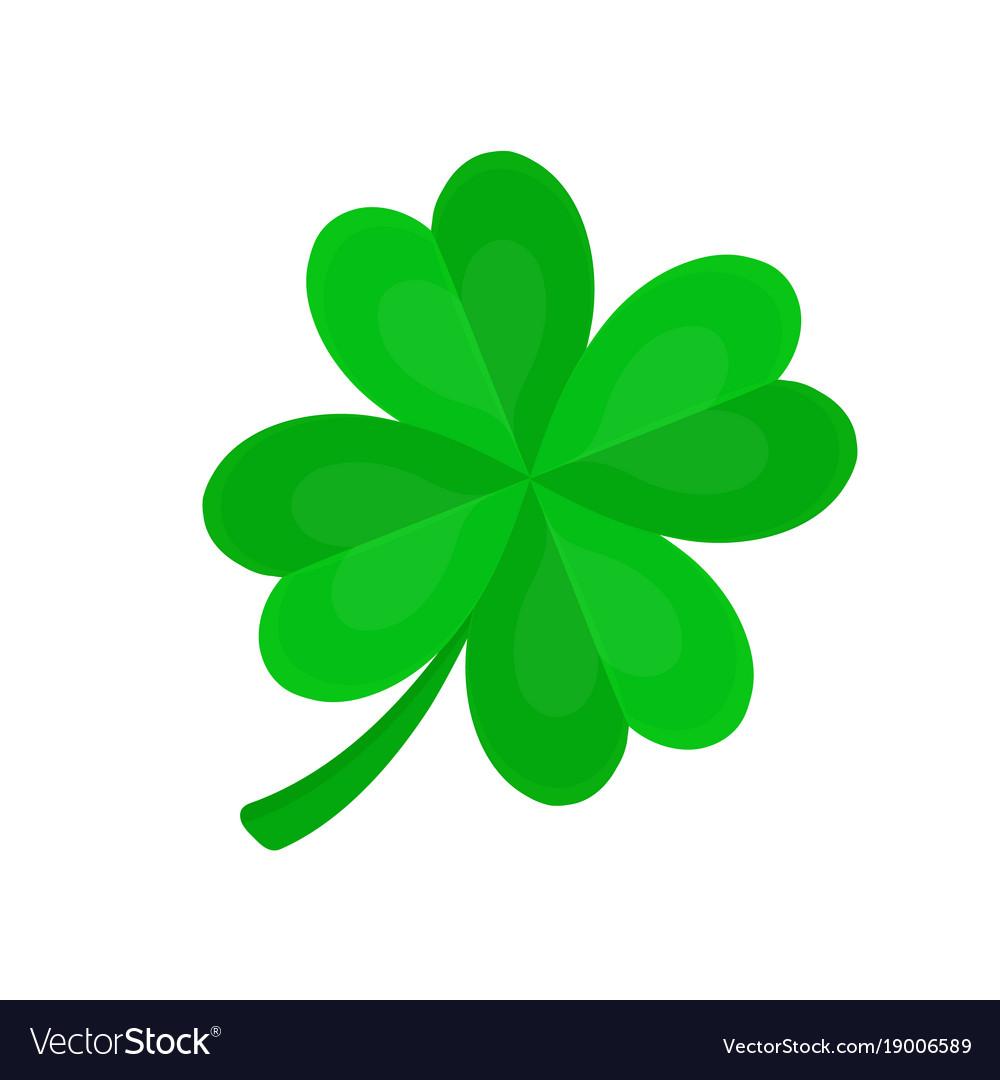 four leaf clover for luck flat cartoon royalty free vector rh vectorstock com four leaf clover cartoon pics four leaf clover cartoon images