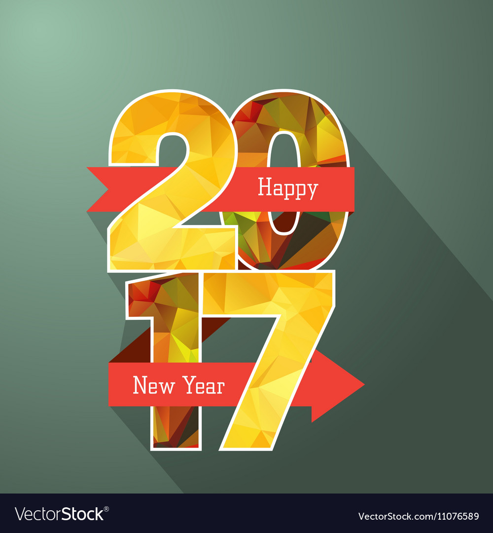 Happy new year 2017 Label Badge vector image