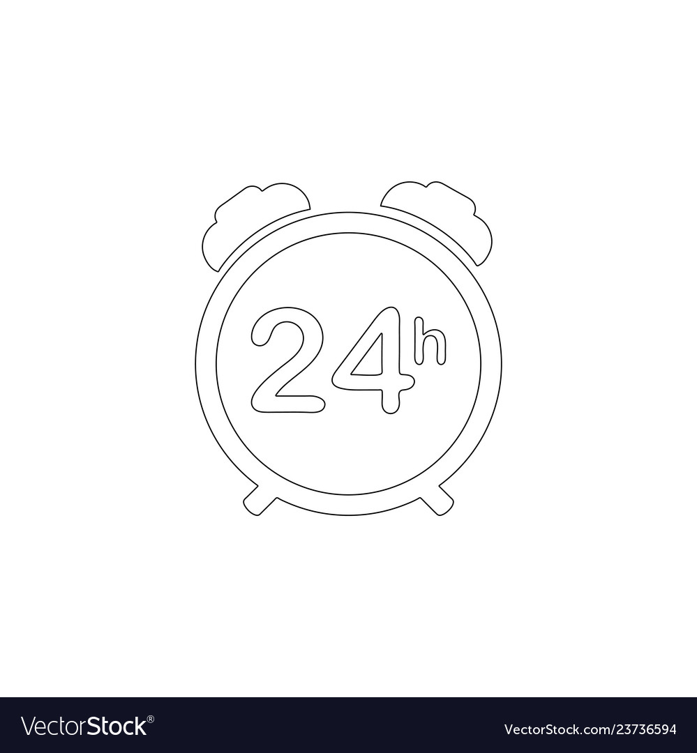 24 hour steady available services flat icon
