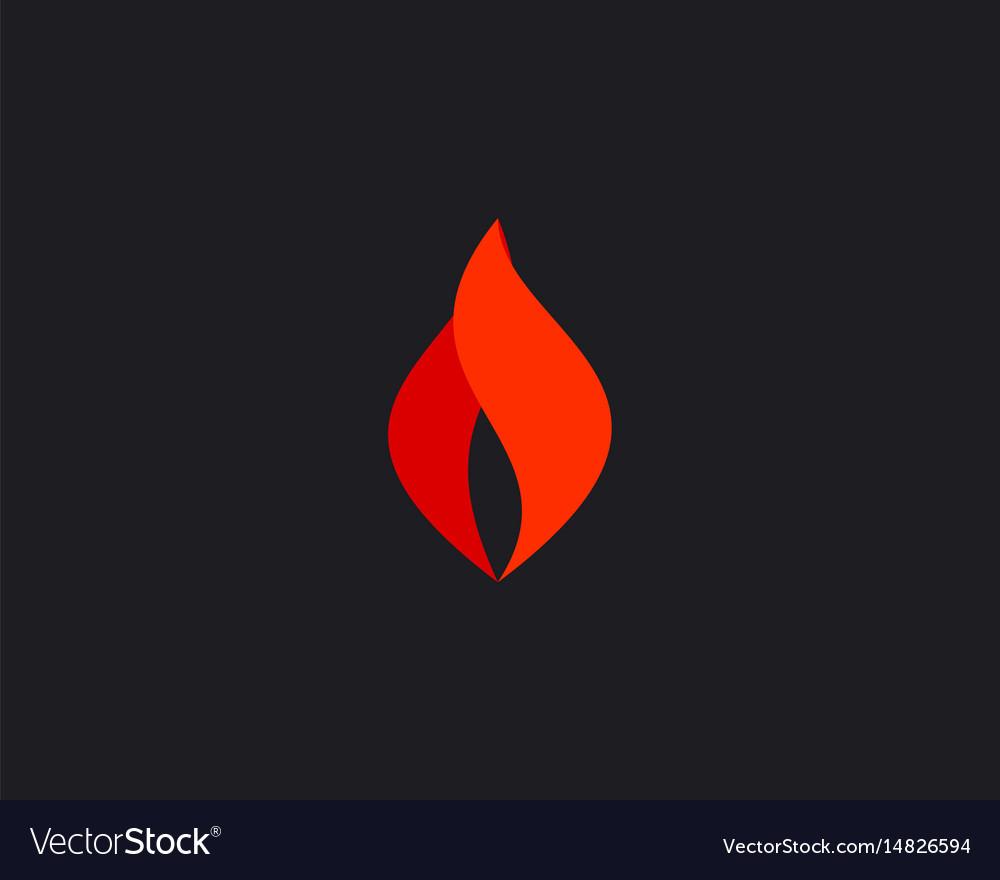 Abstract fire logo symbol design flame vector image