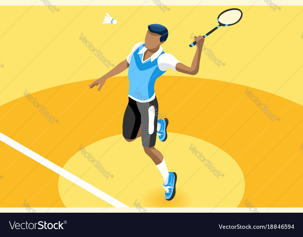 Background badminton boy