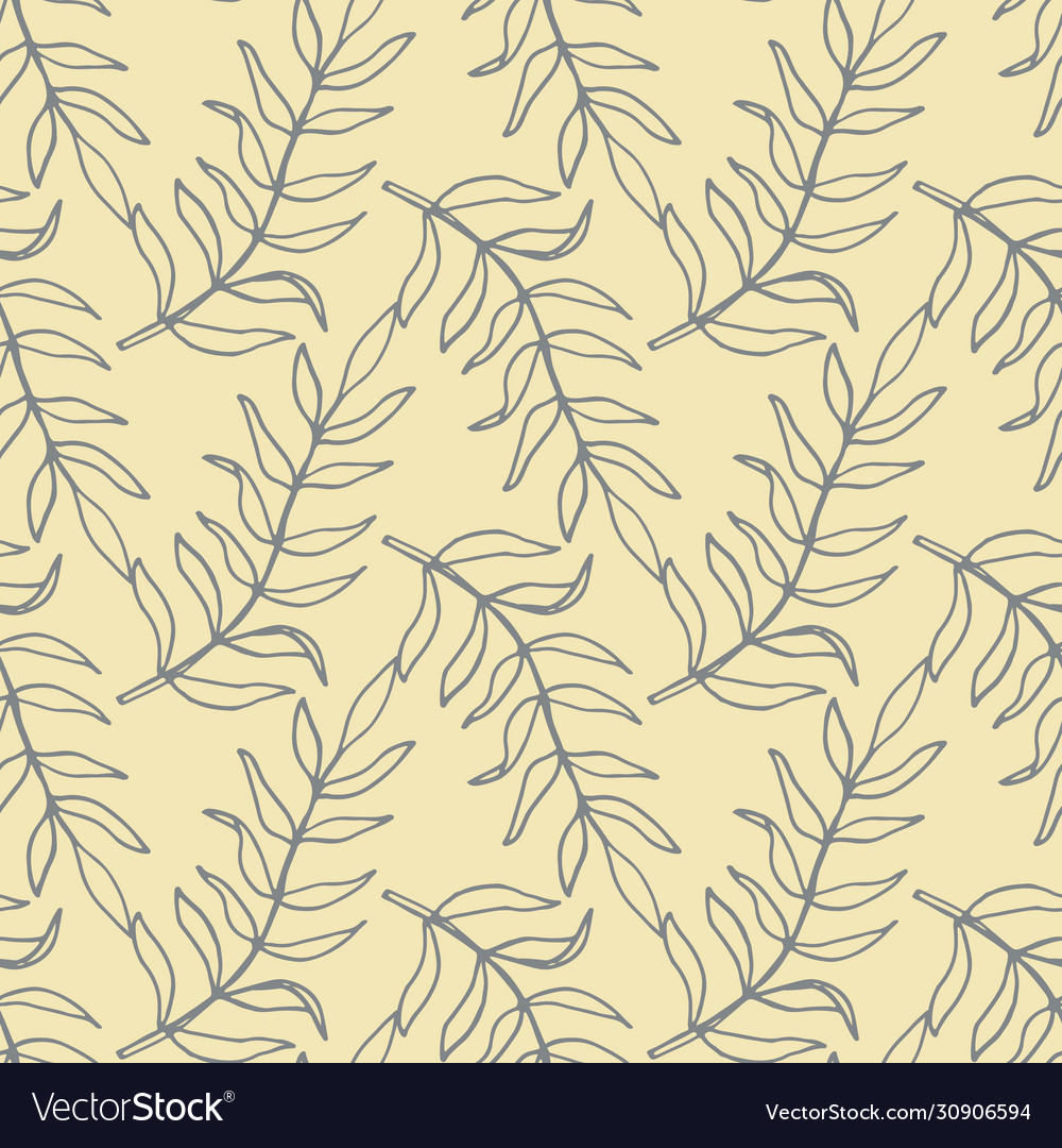 Beautiful tropical leaves seamless pattern