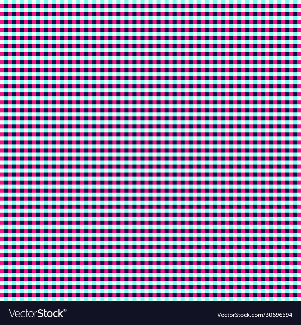 Blue and pink tablecloth gingham seamless pattern