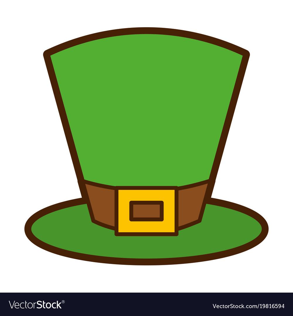 Green top hat accessory fashion irish Royalty Free Vector fb2b2e4683a