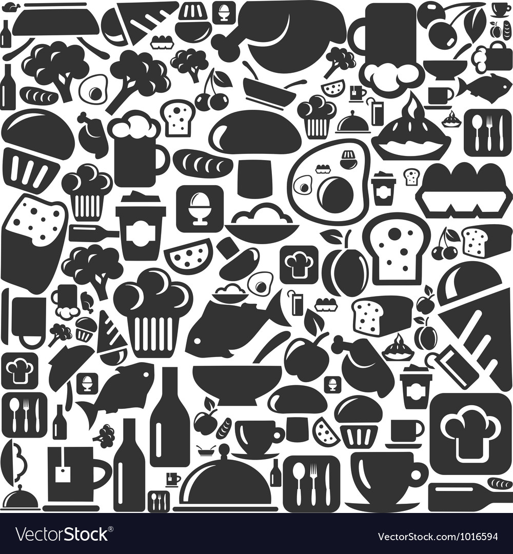 Meal a background vector image