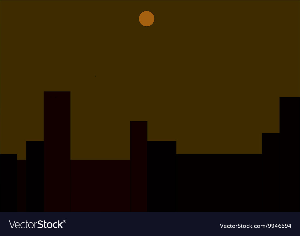 Moon over the city vector image
