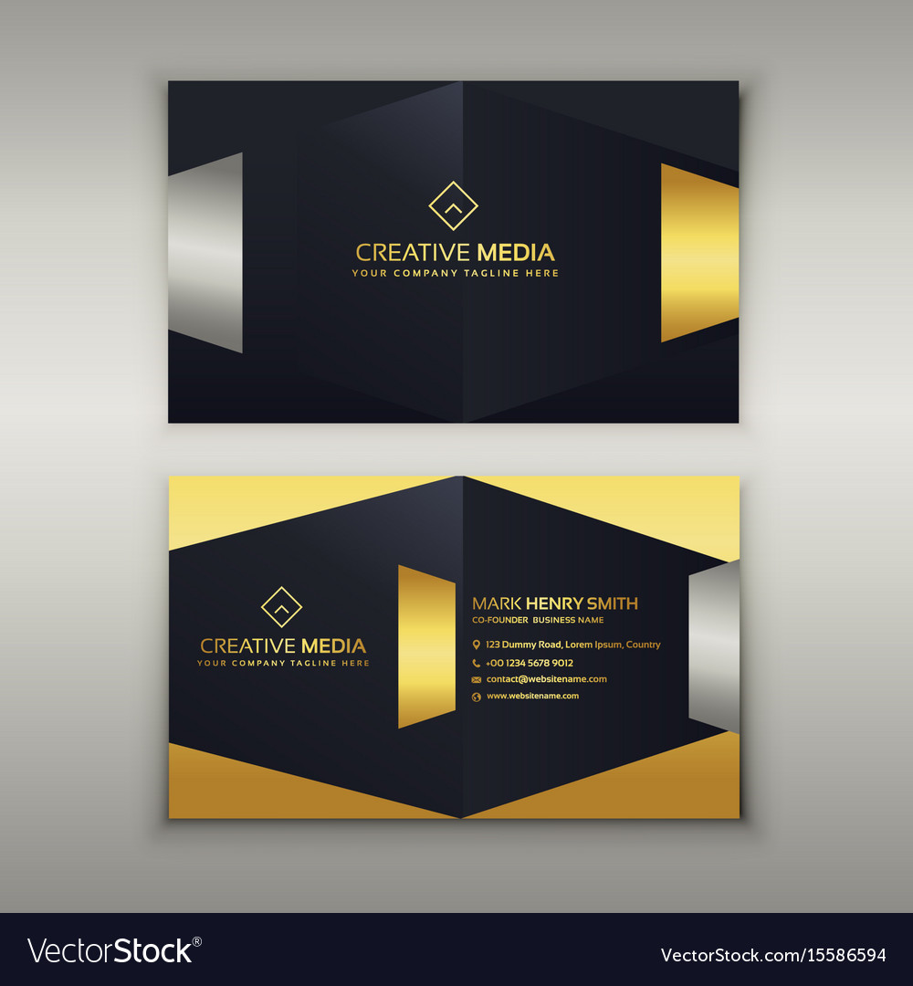Premium Luxury Business Card Design Template Vector Image