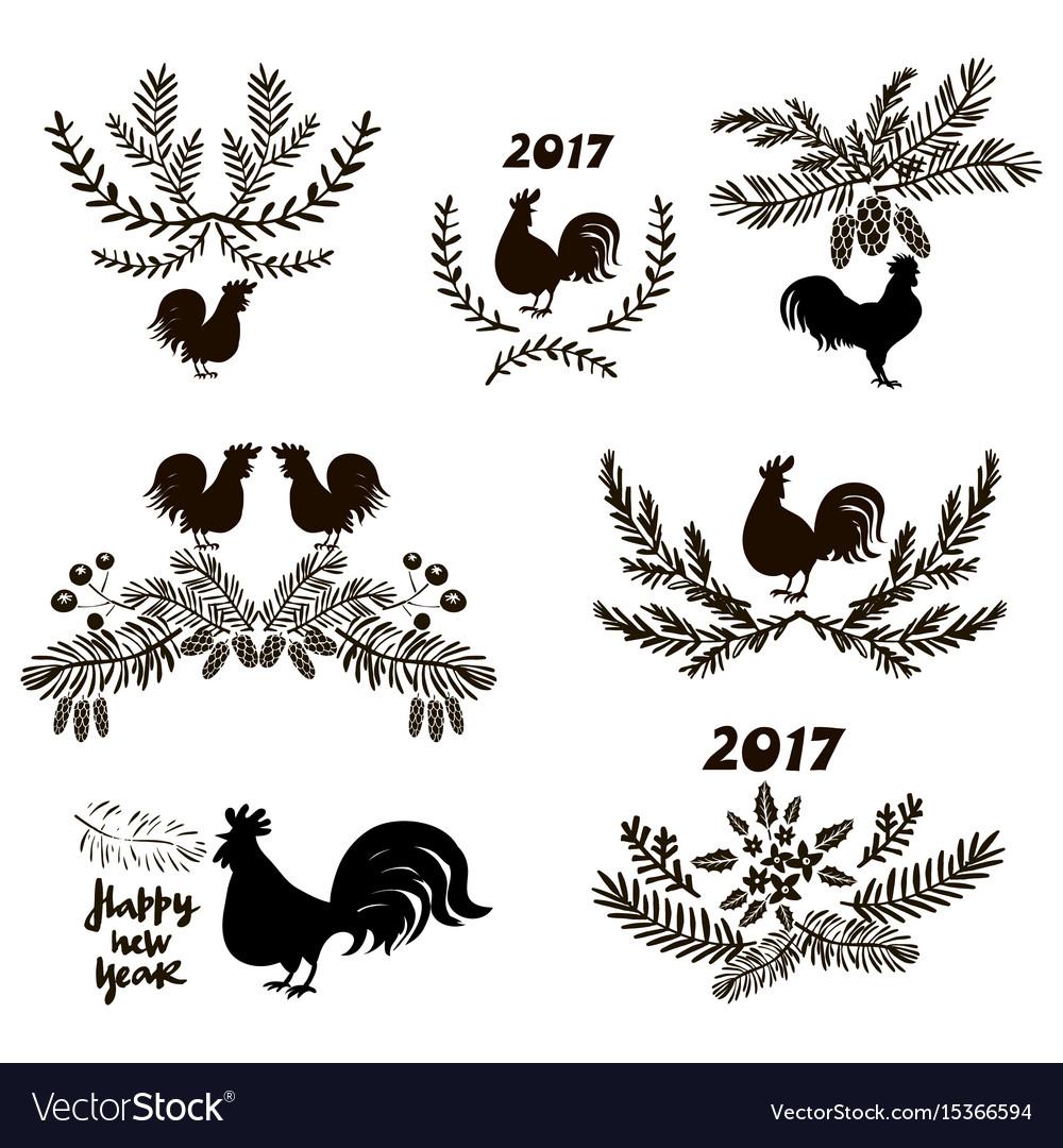 Set of doodle elements vector image