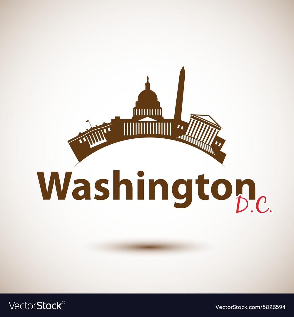 Silhouette of Washington DC USA