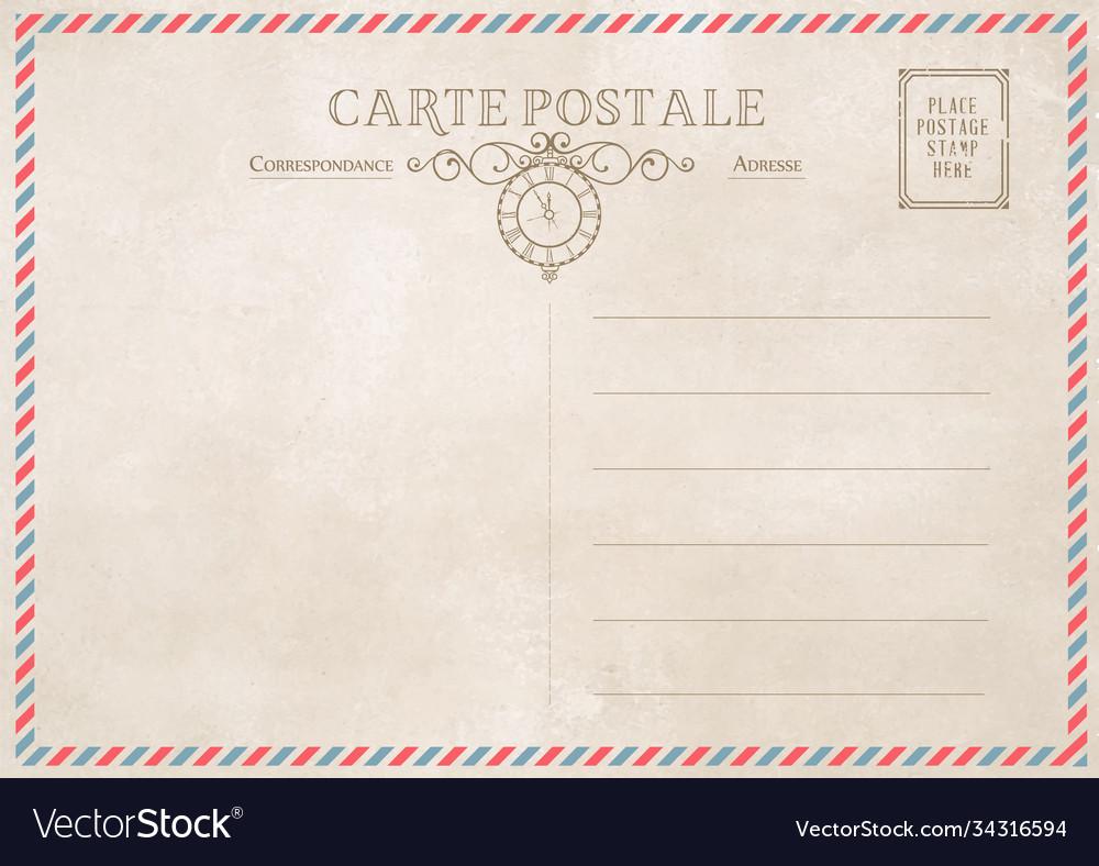 Vintage post card template