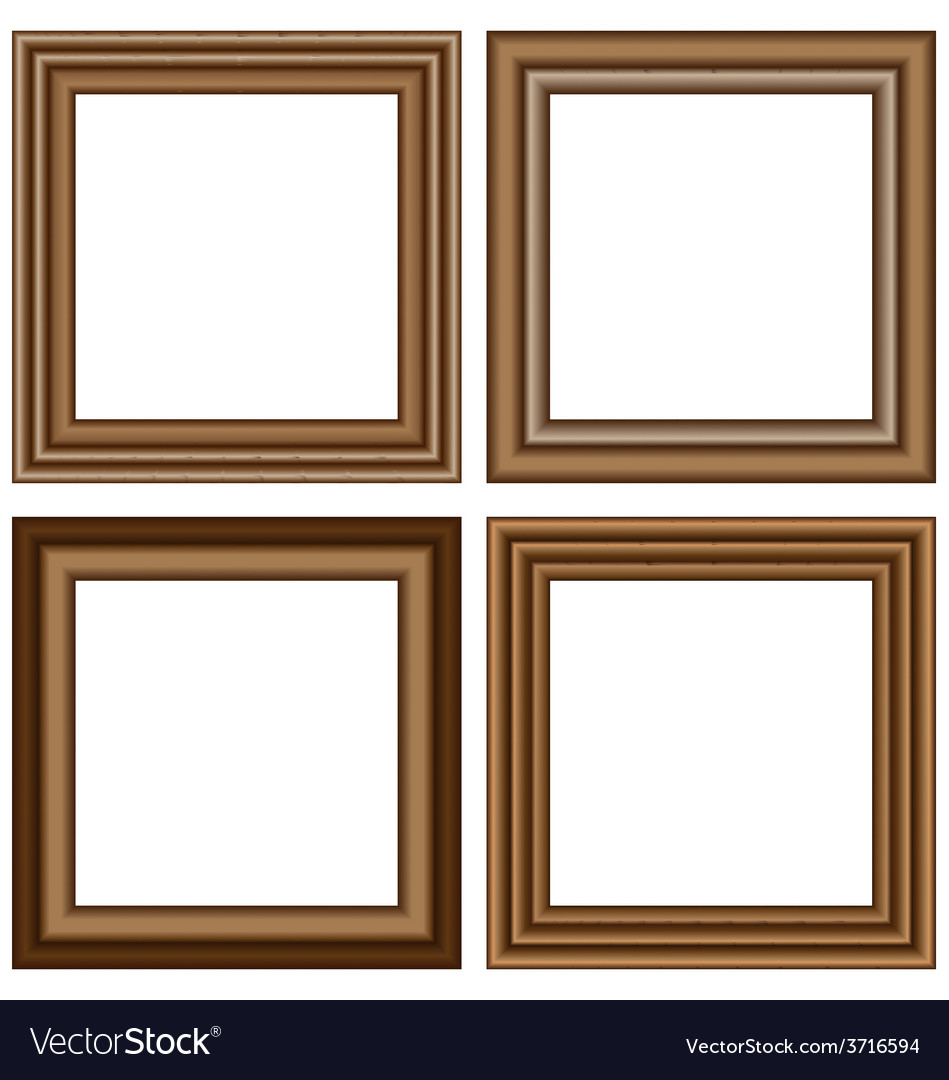 Wooden frames isolated on white Royalty Free Vector Image