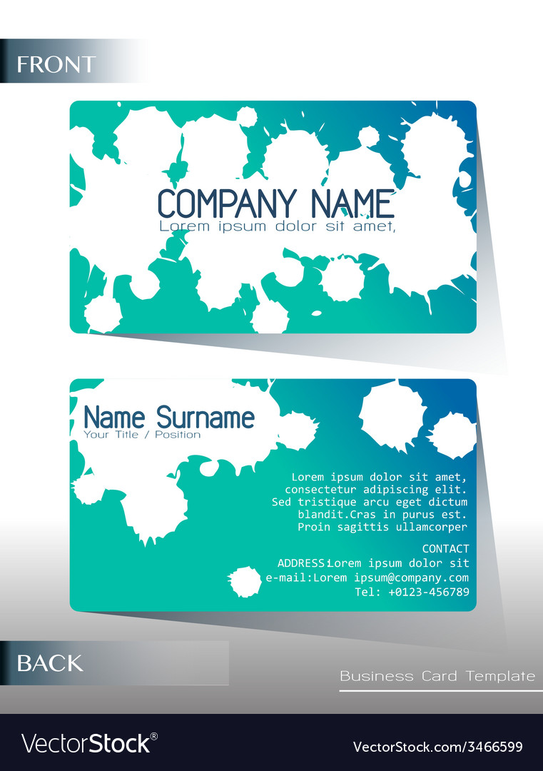 a calling card design vector image - Calling Card