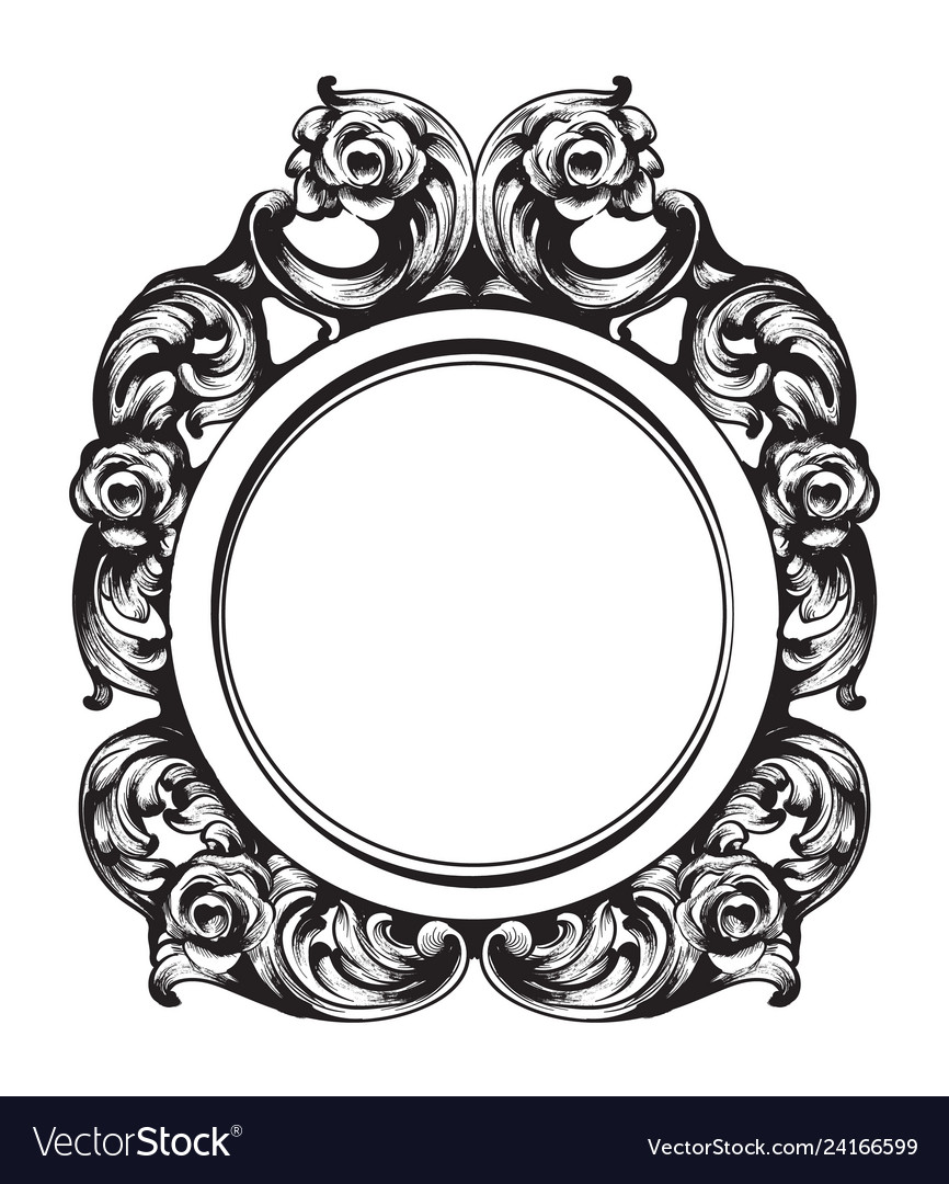 Baroque mirror frame french luxury rich