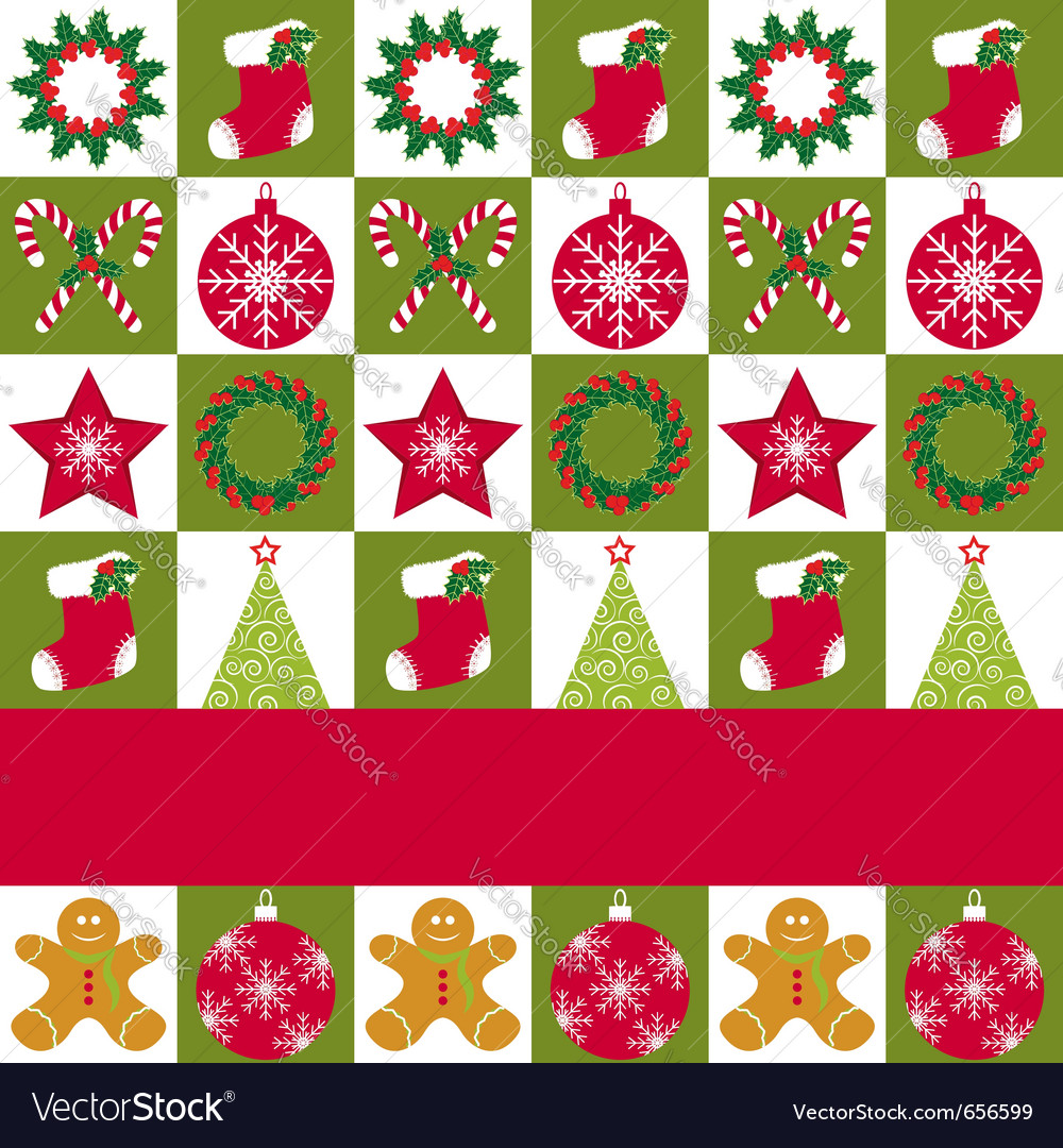 Christmas ornament seamless vector image