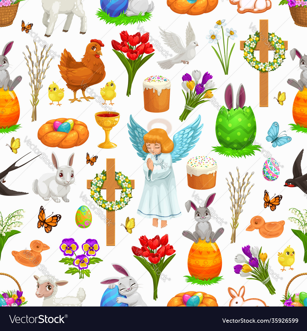 Easter holiday seamless pattern background