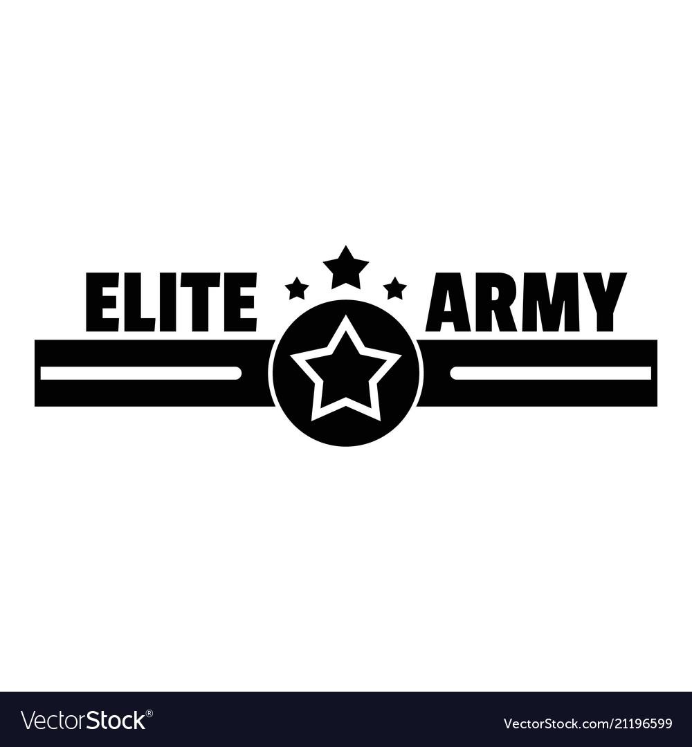 Elite army logo simple style