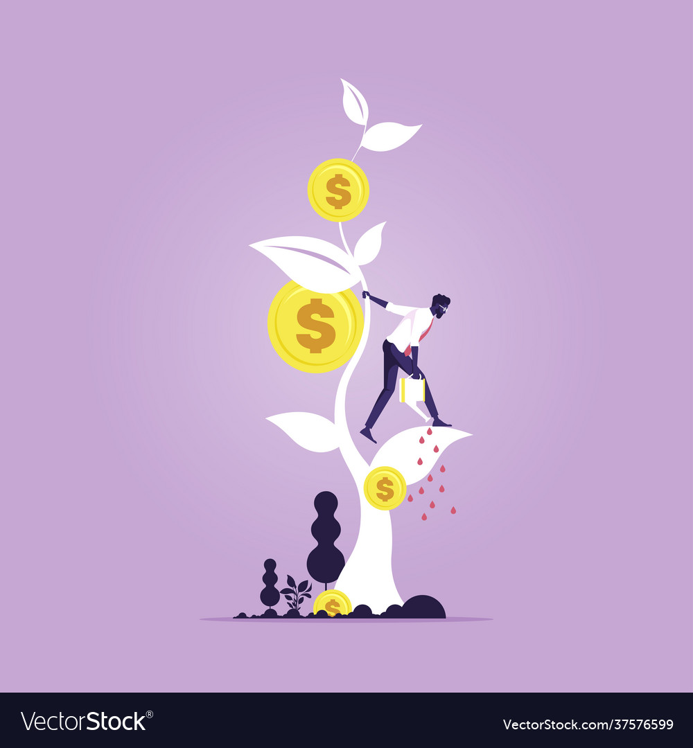 Financial growth concept growing money tree