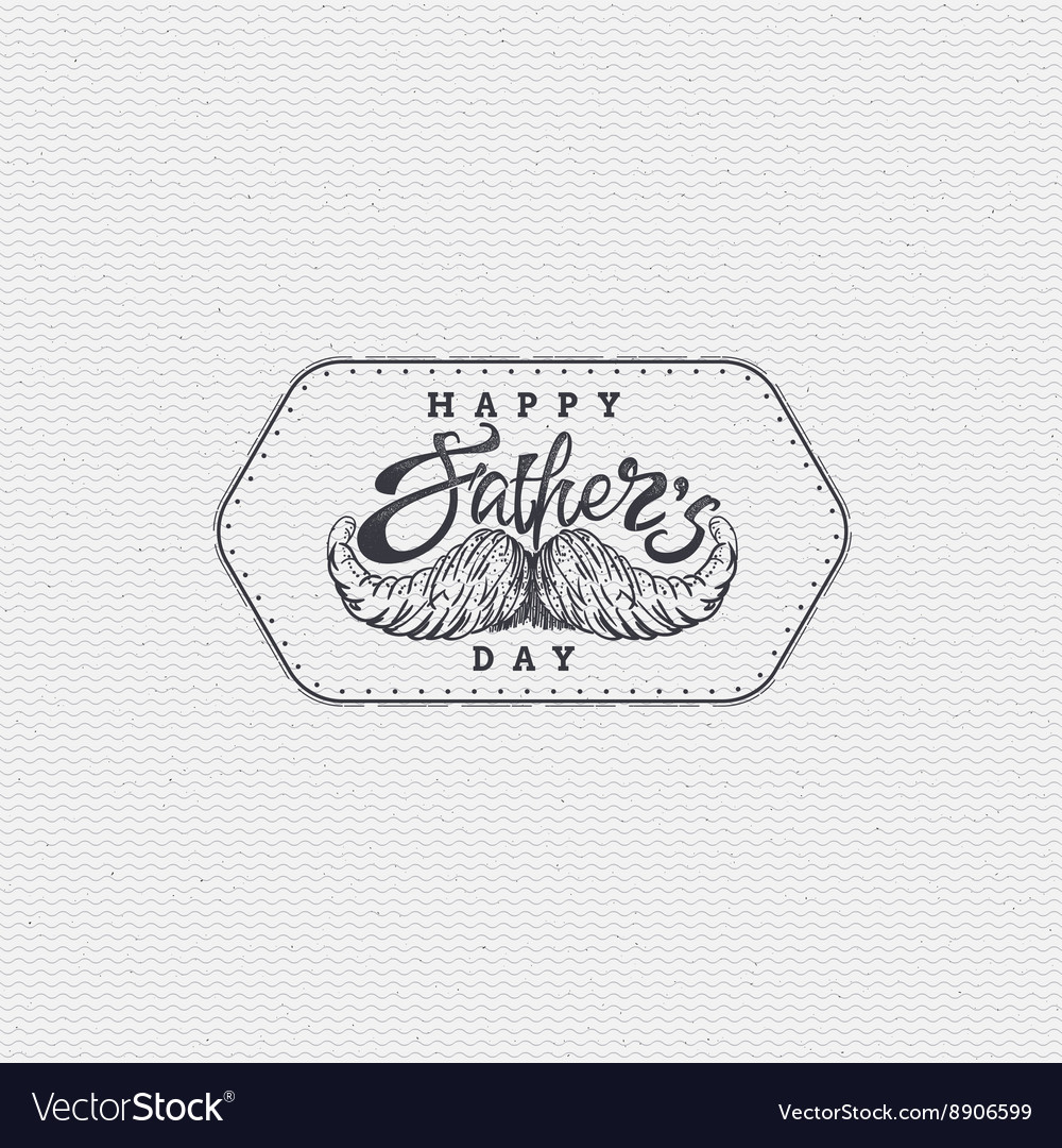 Happy fathers day - poster stamp badge insignia
