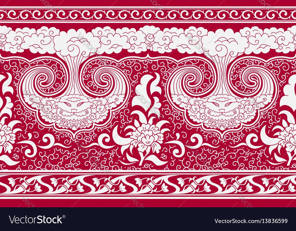 Horizontal seamless background imitation oriental