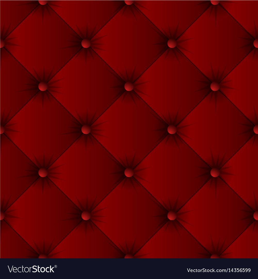 Red Sofa Texture Seamless Pattern Vector Image