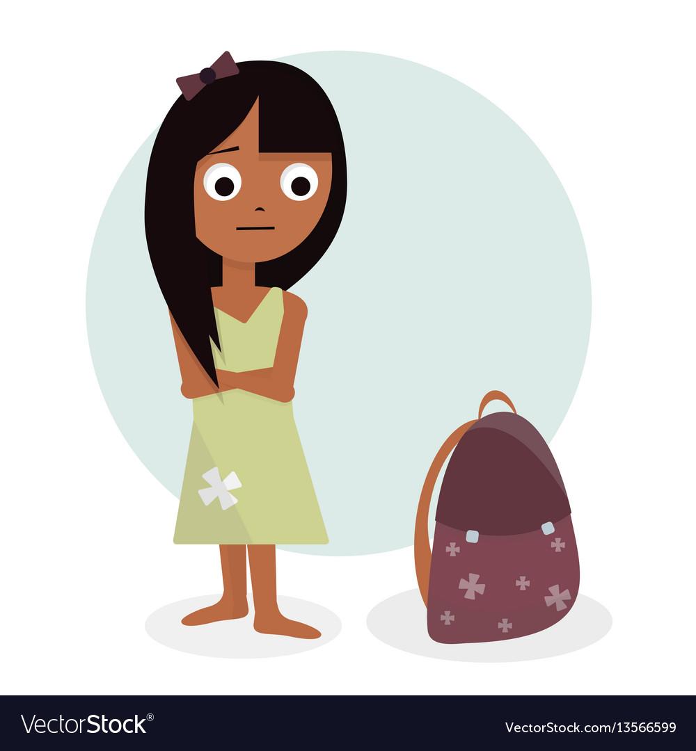 Schoolgirl character design for animation girl vector image