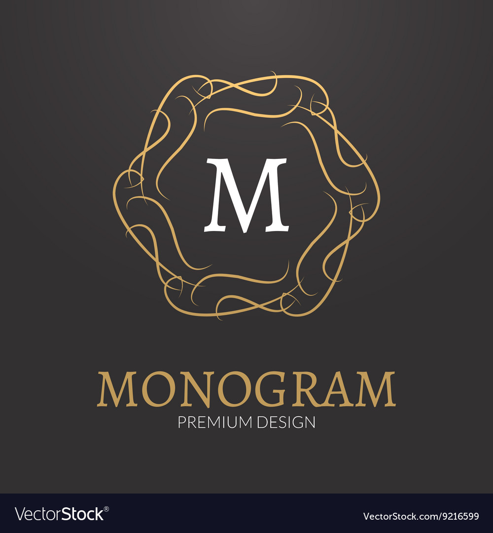 Stylish elegant monogram design logo vector image