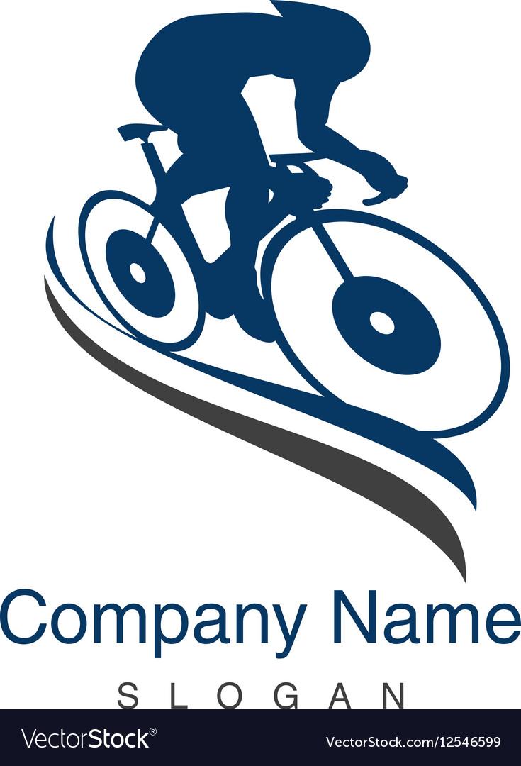 Track cycling logo vector image