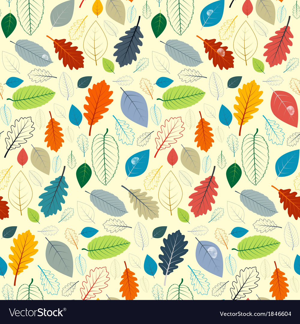 Abstract Seamless Pattern - Autumn Leaves